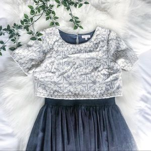 New People Tulle A Line and Lace Dress